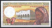 500 Francs ND(1986) Komoren Pick 10b unc  10,00 EUR  zzgl. 3,95 EUR Versand