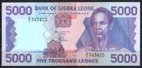 5.000 Leones  Sierra Leone Pick 21a unc/kassenfrisch  20,00 EUR  +  8,50 EUR shipping