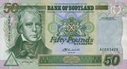 50 Pounds 24.9.2004 Bank of Scotland Pick 122d unc  170,00 EUR  zzgl. 4,50 EUR Versand