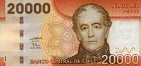 20.000 Pesos 2009 Chile Pick 165a unc/kassenfrisch  65,00 EUR  zzgl. 4,50 EUR Versand