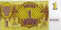 1 Rublis 1992 Lettland Pick 35 unc/kassenfrisch  1,00 EUR