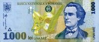 1.000 Lei (1998) Rumänien Pick 106 unc/kassenfrisch  1,00 EUR