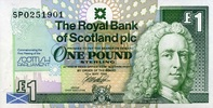 1 Pound 12.5.1999 The Royal Bank of Scotland Pick 360 unc/kassenfrisch  9,50 EUR  +  8,50 EUR shipping