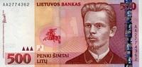 500 Litu 2000 Litauen Pick 64 unc  279,00 EUR  +  16,00 EUR shipping