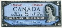 5 Dollars (1961-1972) Canada Pick 77b unc/kassenfrisch  59,00 EUR  zzgl. 4,50 EUR Versand