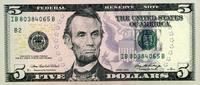 5 Dollars 2006 USA - New York - unc/kassenfrisch  9,50 EUR  +  8,50 EUR shipping