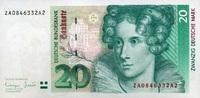 20 Mark 01.10.1993 Deutsche Bundesbank Ros.304b unc/kassenfrisch  42,00 EUR