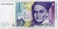 10 Mark 01.8.1991 Deutsche Bundesbank Ros.297b unc/kassenfrisch  20,50 EUR  +  10,50 EUR shipping