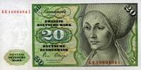 20 Mark 02.1.1980 Deutsche Bundesbank Ros.287a unc/kassenfrisch  32,00 EUR  zzgl. 4,50 EUR Versand