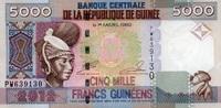 5.000 Francs 2012 Guinea Pick 41b unc/kassenfrisch  6,00 EUR  +  8,50 EUR shipping