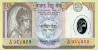 10 Rupees ND(2002) Nepal-Polymer Pick 45 unc/kassenfrisch  1,10 EUR