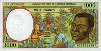 1.000 Francs 1997 Zentral-Afrika Staaten Pick 402 L.d unc/kassenfrisch  6,50 EUR