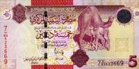 5 Dinars (2009) Libyen Pick 72 unc/kassenfrisch  7,50 EUR  zzgl. 3,95 EUR Versand