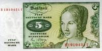 5 Mark 02.1.1980 Deutsche Bundesbank Ros.285a unc/kassenfrisch  8,50 EUR  +  8,50 EUR shipping