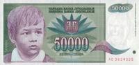 50.000 Dinara  Jugoslawien Pick 117 unc  2,00 EUR  +  8,50 EUR shipping