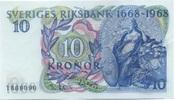 10 Kronor 1968 Schweden P.56a unc/kassenfrisch  10,00 EUR  zzgl. 3,95 EUR Versand