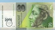 20 Korun 01.9.1999 Slovakia P.20a unc/kassenfrisch  3,50 EUR  zzgl. 3,95 EUR Versand