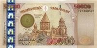 50.000 Dram 2001 Armenien P.48 unc/kassenfrisch  235,00 EUR  zzgl. 4,50 EUR Versand