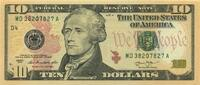 10 Dollars Serie 2013 USA P.539-D unc/kassenfrisch  20,00 EUR  zzgl. 3,95 EUR Versand