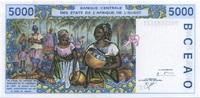 5.000 Francs 2000 West-Afrika - T für Togo - Frauenkopf/Marktszene - un... 35,00 EUR  zzgl. 4,50 EUR Versand