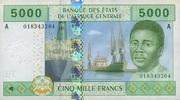 5.000 Francs (2002) Zentral-Afrika Staaten P.409A unc/kassenfrisch  20,00 EUR  zzgl. 3,95 EUR Versand