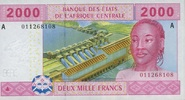 2.000 Francs (2002) Zentral-Afrika Staaten P.408A unc/kassenfrisch  11,00 EUR  zzgl. 3,95 EUR Versand