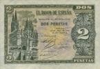2 Pesetas 30.4.1938 Spanien - sehr selten -   96,00 EUR  zzgl. 4,50 EUR Versand