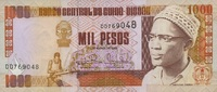 1.000 Pesos 01.3.1993 Guinea-Bisssu P.13b unc/kassenfrisch  2,50 EUR  zzgl. 3,95 EUR Versand