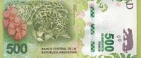 500 Pesos 2016 Argentinen - New Design - Jaguar/Blumen/Karte von Argent... 80,00 EUR  +  16,00 EUR shipping