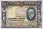 50 Pestas 22.7.1935 Spanien P.88 unc/kassenfrisch  59,00 EUR  +  16,00 EUR shipping