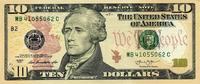 10 Dollars Serie 2013 USA - New York - unc/kassenfrisch  19,00 EUR  +  8,50 EUR shipping