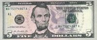 5 Dollars Serie 2013 USA - Boston - unc/kassenfrisch  8,00 EUR  +  8,50 EUR shipping