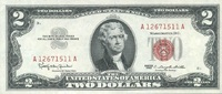 2 Dollars 1963 USA P.382a unc/kassenfrisch  26,00 EUR  +  10,50 EUR shipping