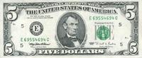 5 Dollars 1995 USA - Richmond - unc/kassenfrisch  16,00 EUR  +  8,50 EUR shipping