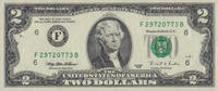 2 Dollars  USA Pick 497-F unc  7,00 EUR