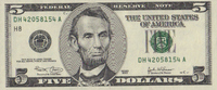 5 Dollars  USA - St.Louis - unc/kassenfrisch  12,00 EUR  +  8,50 EUR shipping