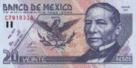 20 Pesos  Mexico Pick 111 unc/kassenfrisch  12,00 EUR  +  8,50 EUR shipping