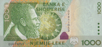 1.000 Leke 2001 Albanien Pick 69 unc/kassenfrisch  19,00 EUR  zzgl. 3,95 EUR Versand