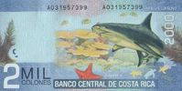 2.000 Colones  Costa-Rica Pick 275 unc/kassenfrisch  7,00 EUR  zzgl. 3,95 EUR Versand