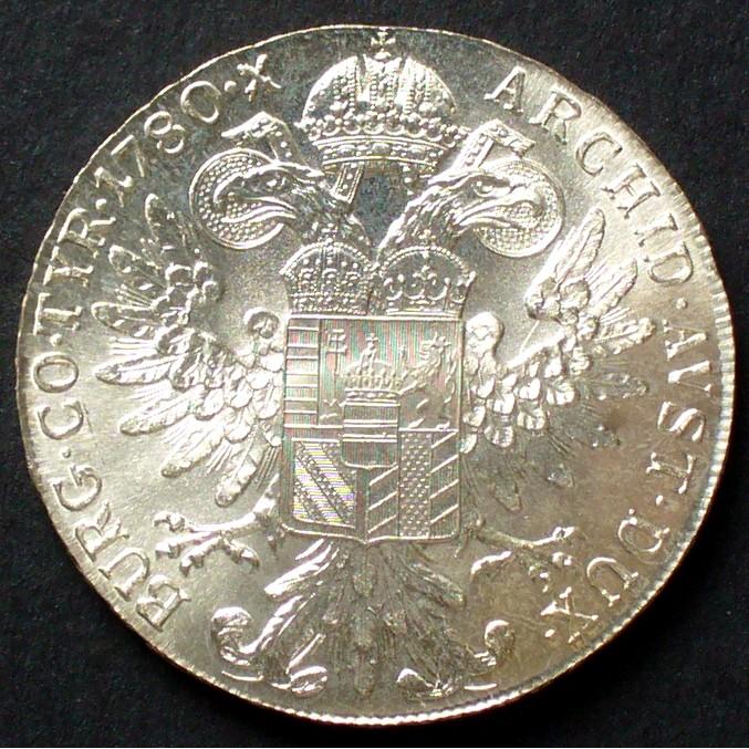833er Silber, 28,00g / Maria Theresia Wappen Österreich 1 Taler 1780