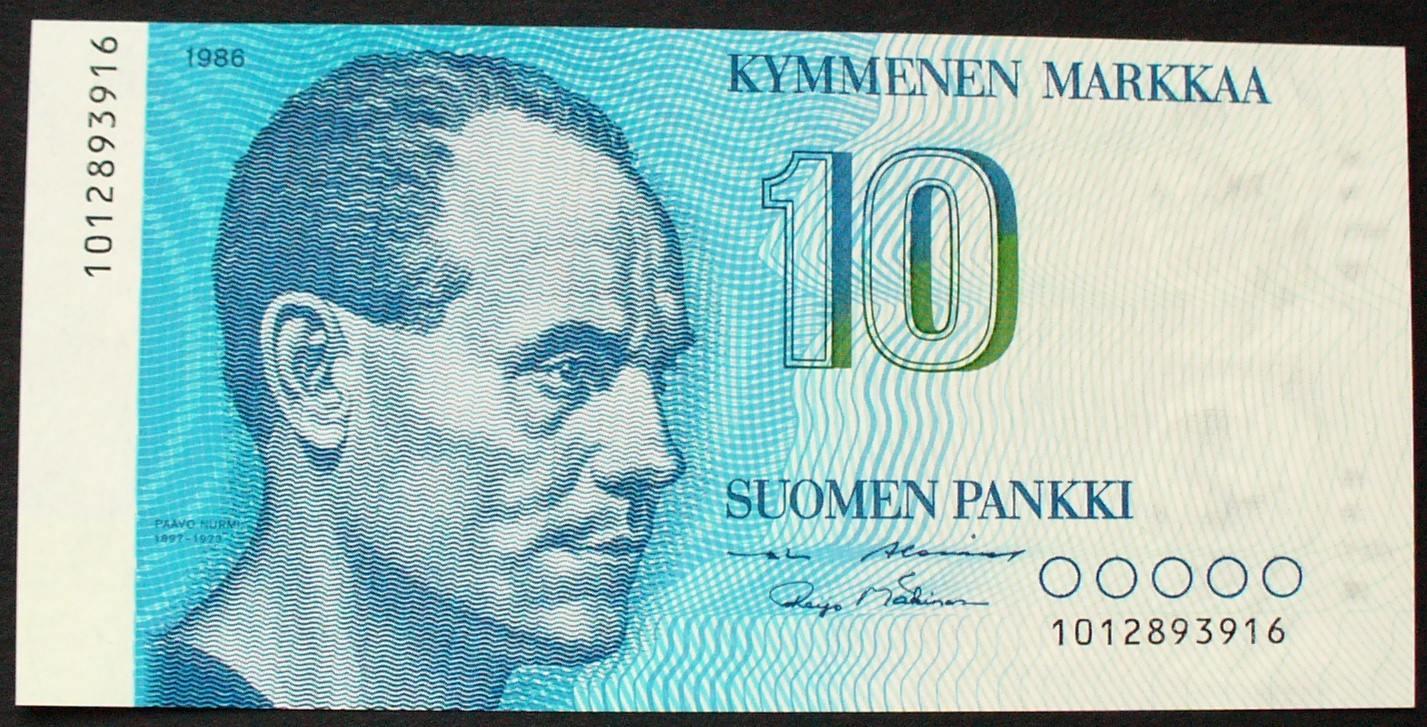 P 113 a Finnland 10 Markkaa 1986