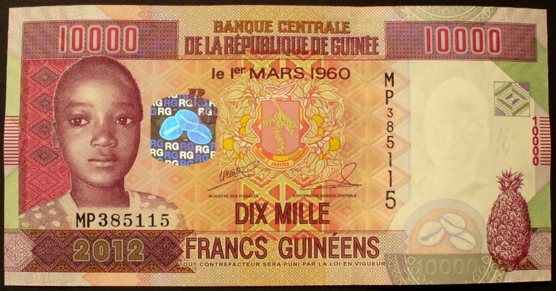P Neu Guinea 10 000 Francs 2012