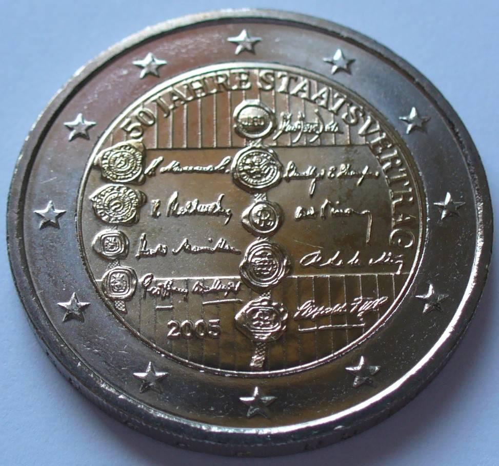 S 319 / Bime / 50 Jahre Staatsvertrag Österreich 2 Euro 2005