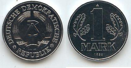 Ddr Deutschland 1 Mark 1982