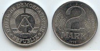 Ddr Deutschland 2 Mark 1982