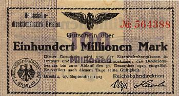 Deutsche Reichsbahn, Reichsbahndirektionsbezirk Breslau Deutschland 1