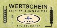 Deutschland 5 Mark DDR LPG-Geld
