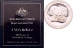1 Dollar 2010 B Australien 100 Jahre Australische Münzprägung, ANDA Bri... 119,00 EUR  zzgl. 6,90 EUR Versand