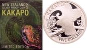 5 Dollars 2009 Neuseeland Eulenpapagei (Kakapo) PP  87,00 EUR  zzgl. 6,90 EUR Versand