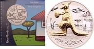 1 Dollar 2008 Australien Känguru mit Football st, vergoldet  89,00 EUR  zzgl. 6,90 EUR Versand